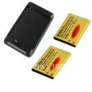 Два аккумулятора на 2450 mAh для HTC HD7 HD3 G13 Wildfire S + зарядная док-станция
