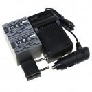 NP-FP90 - 2 аккумулятор + зарядное устройство + автомобильное зарядное устройство для Sony NP FP30 FP50 FP60 FP70 FP90