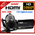 "LZ HDV-200E - цифровая камера, 20MP, HD 1080P, поворотный сенсорный 3.0"" TFT LCD, 12x оптический зум"