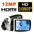"HD-8P - цифровая камера, HD 1080P, 12MP, h.264, 3.0"" TFT LCD, 4x цифровой зум"