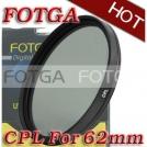 Циркулярно-поляризационный фильтр Fotga 62mm для камер Canon/Nikon/Sony/Olympus