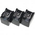 BP-819 - 3 аккумулятора для CANON BP-80 BP-819 BP-827
