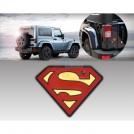 """Металлический стикер для автомобиля """"Superman"""""""