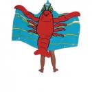 Детское пляжное / банное полотенце с капюшоном