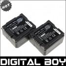 VW-VBG130 - 2 аккумулятора Li-ion 1320 мАч для Panasonic SDR-H80 HDC-DX5 HDC-TM20