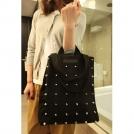 Модные холщовые женские сумки-почтальонки с заклепками в стиле панк 6933