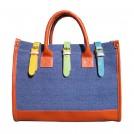 Холщовая цветная сумка