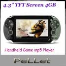 """Pellet P7600 - Портативная игровая консоль, 4.3"""", 4GB, MP4, TV"""