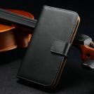 Кожаный чехол для Samsung Galaxy S4 с отделением для пластиковых карт и купюр, подставкой, 2 вида