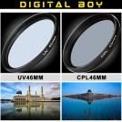 Набор: УФ фильтр 46 мм, циркулярно-поляризационный фильтр 46 мм для Canon; Nikon; Sony