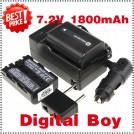 NP-FM500H - 2 аккумулятора + зарядное устройство + автомобильное зарядное устройство + штекер для Sony DSC-R1 F707 F717 F828