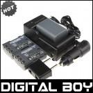 NB-2L - 3 аккумулятора + зарядное устройство + зарядка для авто, для Canon Powershot S30 40 45