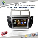 "HanStar 700D - автомобильная магнитола, 6.2"" TFT LCD, Touch Screen, GPS, Bluetooth, MP3/MP4, CD/DVD, USB/SD, TV/FM для Toyota Yaris"