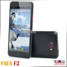 "FAEA F2  - смартфон, Android 4.2, MTK6589 1.2 GHz Quad core, 5.0"" , 2 SIM-карты, 1ГБ RAM, 4ГБ ROM, поддержка карт microSD, WCDMA/GSM, Wi-Fi, Bluetooth, GPS, FM-радио, основная камера 12МП и фронтальная камера 5МП"