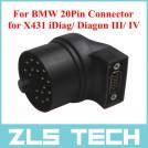 Launch BMW адаптер, 20ти контактный, X431 iDiag/ Diagun III/ IV