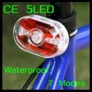 Задний габаритный фонарь для велосипеда, 5 светодиодов