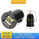 Автомобильное зарядное устройство с двойным USB выходом