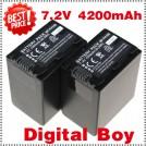 NP-FH100 - 2 аккумулятор Li-ion для Sony DCR-HC65 DCR-DVD755E DCR-DVD106
