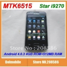 "Star i9270 - смартфон, Android 2.3.6, MTK6515 (1GHz), 3.5"" TFT LCD, 256MB RAM, 256MB ROM, Wi-Fi, Bluetooth, FM, 5MP задняя камера, 0.3MP фронтальная камера"