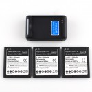 Аккумулятор на 2800mAh (3 шт) + Зарядное USB-устройство для Samsung Galaxy S4 i9500 M919 i337 i545