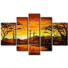 """Современная живопись маслом на холсте """"Африка"""" группа из 4х картин"""