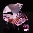 Красивое кристальное пианино и музыкальная шкатулка в одном