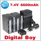 NP-F970 - аккумулятор + зарядное устройство + автомобильное зарядное устройство + штекер для Sony NP-F960 NP-F950 NP-F930