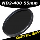 Нейтрально-серый фильтр 55 мм ND2-ND400 для Canon 50/1.8; Nikon 18-55; Sony