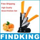 Керамические ножи 7,5 см, 10 см, 12,5 см + акриловая подставка