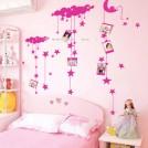 Стикеры для детской комнаты луна, звезды с фоторамками