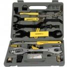 Комплект для ремонта велосипеда, 44 различных инструмента и насадок, комбинируемые инструменты