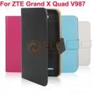 Кожаный чехол-подставка для ZTE Grand X Quad, V987