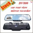 DV800 – автомобильный видеорегистратор, TFT дисплей, запись видео с зеркала заднего вида, 1280x720P 30 кадров/с, обнаружение движения