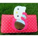"Бумажник с зеркалом для девочек ""Hello Kitty"", на замке"