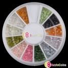 Набор страз для ногтей (12 цветов)
