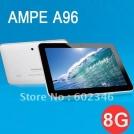"Ampe A96 - планшетный компьютер, Android 4.0.3, 8"" TFT LCD, All Winner A13 (1.2GHz), 1GB RAM, 8GB ROM, Wi-Fi, 2MP фронтальная камера, 2MP задняя камера"