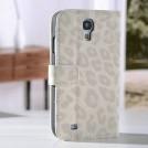 """Кожаный чехол с узором """"шкура леопарда"""" для Samsung Galaxy S4 с отделением для пластиковых карт и подставкой, 5 цветов"""