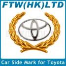 Автомобильная эмблема ТОЙОТА, наклейка, пластик, металл