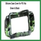 Силиконовый чехол для PS Vita, зеленый с черным