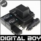 BP-727 - 3 аккумулятора + зарядное устройство + зарядка для авто, для Canon VIXIA HF M50/52/500/56/506