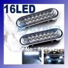 Комплект из двух противотуманных фар LED подсветка, 16 диодов, бесцветный свет
