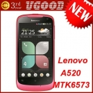 "Lenovo LePhone A520 - смартфон, Android 2.3.5, MTK6573 (650MHz), 4"" IPS, 512MB RAM, 256MB ROM, 3G, Wi-Fi, Bluetooth, GPS, 5MP задняя камера, 0.3MP фронтальная камера"