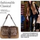 Модные дамские сумки с мехом 06836