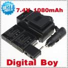 LPE10 - 3 аккумулятора + зарядное устройство + зарядка для авто, для Canon 1100D KISS X50 REBEL T3