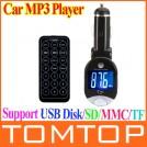"""Автомобильный FM-трансмиттер с поворотным ЖК экраном - 1,4"""", МР3, USB,SD, MMC, TF, CE, пульт дистанционного управления"""