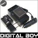 VW-VBG130 - 2 аккумулятора + зарядное устройство + автомобильное зарядное устройство для Panasonic HDC-SD9 HDC-HS250 HDC-TM20