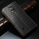 Кожаный чехол для Samsung Galaxy S5 с отделением для пластиковых карт и купюр, и подставкой