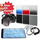Набор: нейтрально-серые фильтры ND2/ND4/ND8 + градиентные фильтры серый/красный/синий + кольцо-переходник 77 мм