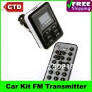 Автомобильный FM-трансмиттер - Bluetooth, MP3 плеер, SD/MMC, пульт дистанционного управления