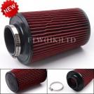 Воздушный фильтр, диаметр установочного отверстия: 76мм, красный